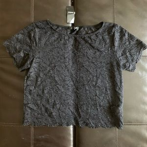 NWT Bebe Cropped Lace Top